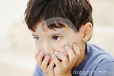Autism, kid looking far away
