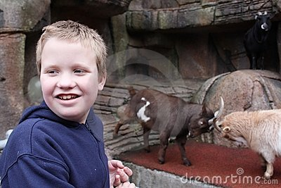Autistic Boy at the Petting Zoo