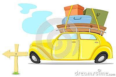 Auto auf Ausflug