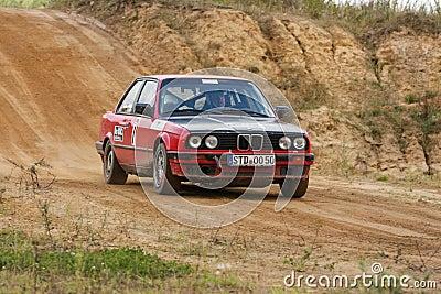 Auto BMW-Rallye Redaktionelles Stockfoto