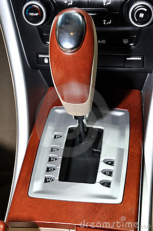 Auto gearshift of sedan