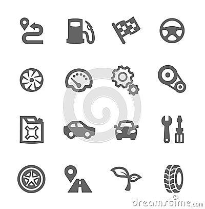 Free Auto Icons Stock Image - 39599141
