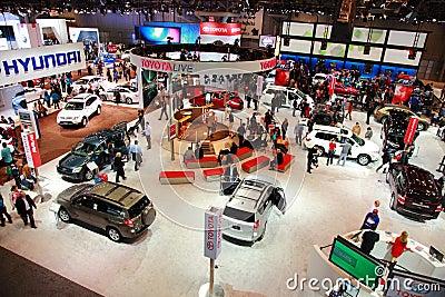 Auto internationell ny show Redaktionell Arkivbild