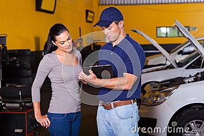 Auto mechanic woman