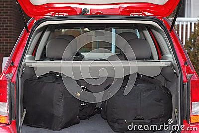 Auto met bagage