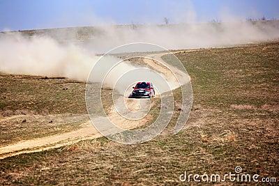 Auto rally Editorial Photo