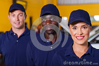 Auto repair employees