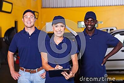 Auto repair workers