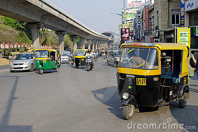 Auto rickshaw taxis in India Editorial Photo