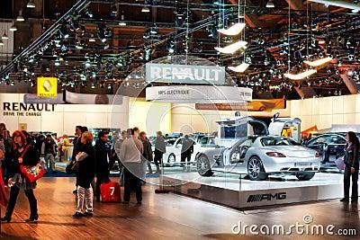 Auto salon in Bruxelles, Belgium Editorial Photo