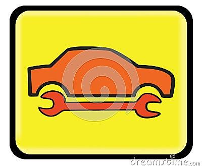 Auto service, auto repair icon