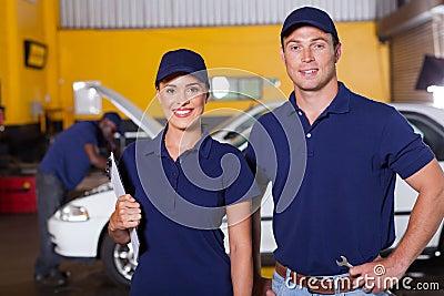 Auto service employees