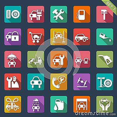 Free Auto Service Icon Set - Flat Design Stock Photos - 32985713