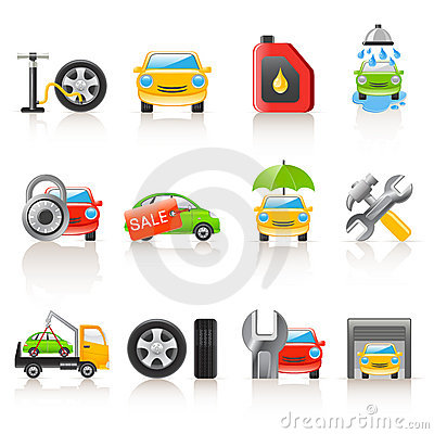 Free Auto Service Icons Stock Photography - 13643872