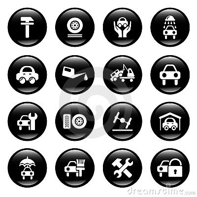 Free Auto Service Icons Royalty Free Stock Photography - 9153197