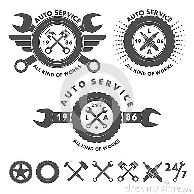 Free Auto Service Labels Emblems And Logo Elements Stock Image - 61039431
