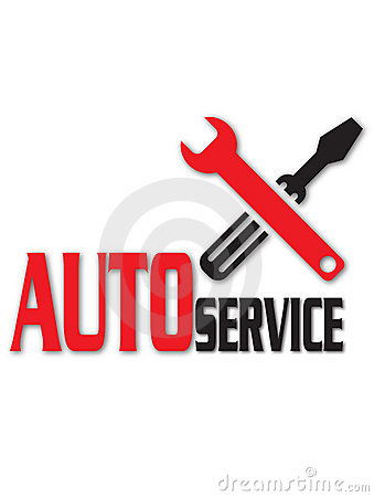 Auto service logo Cartoon Illustration
