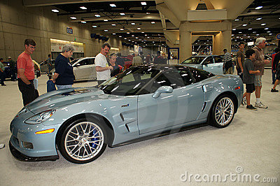 Auto Show Chevorlet ZR1Corvette Editorial Stock Photo