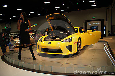 Auto Show LFA Editorial Stock Photo