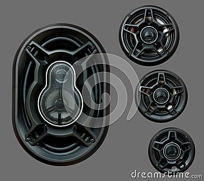 Auto sound loud speaker system