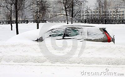 The auto under snow