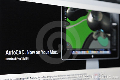 Autocad for Mac Editorial Photo