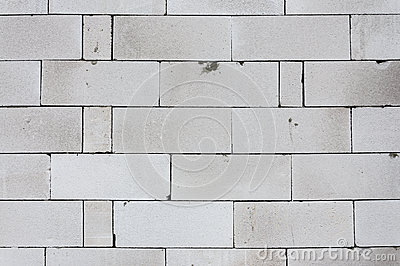 Autoclaved Aerated Concrete Aac Building Wall Stock Image