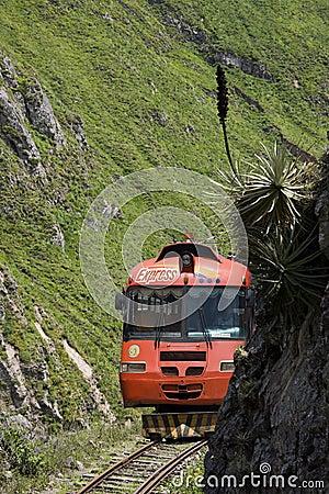 Autoferro - Devil s Nose Pass - Ecuador Editorial Stock Image