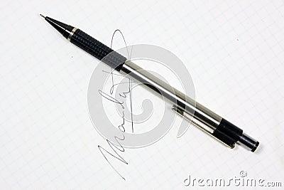 Autograph pen
