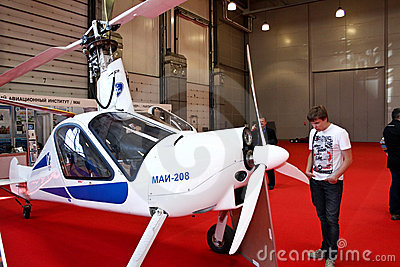 Autogyro MAI-208 Editorial Stock Photo