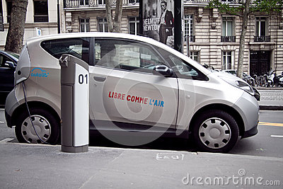 Autolib electric car Paris Editorial Stock Image