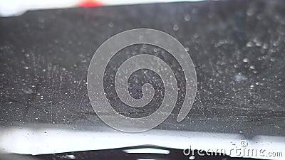 Automóvil lavado Vista desde el coche almacen de metraje de vídeo