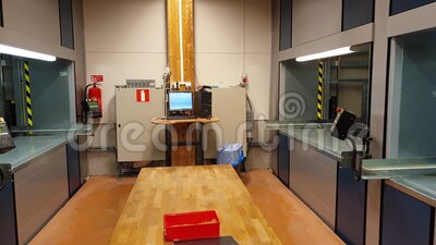 Automated storage system in the warehouse.Vertical carousel storage unit. Beautiful backgrounds. Sweden stock video footage