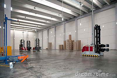 Automated warehouse (paper) with robotic forklift