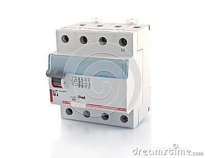 Automatic circuit breaker.