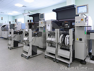 Automatic computer production line