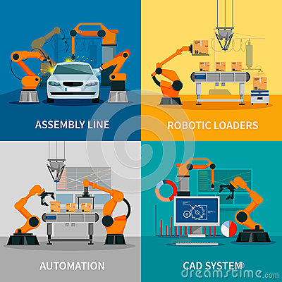 Free Automation Concept Icons Set Stock Photography - 71119122