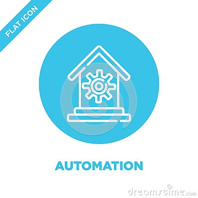 automation icon vector from smart home collection. Thin line automation outline icon vector illustration. Linear symbol for use Vector Illustration