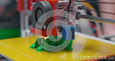 Automatyczna 3D drukarka wykonuje produktu tworzenie zdjęcie wideo