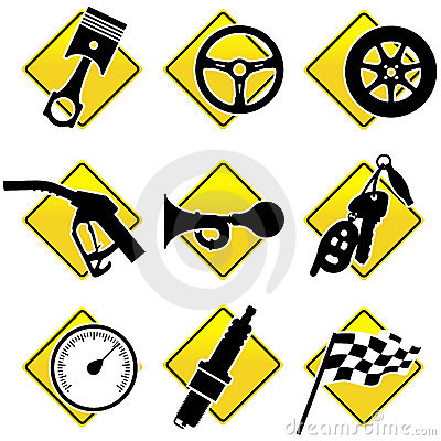 Free Automobile And Racing Icons Stock Image - 6448761