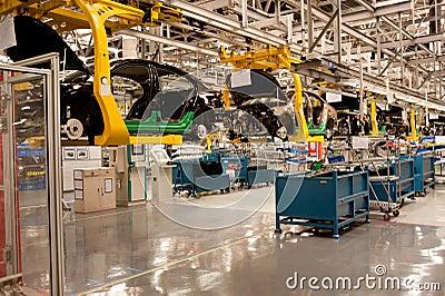 Automobile assembly shop production line