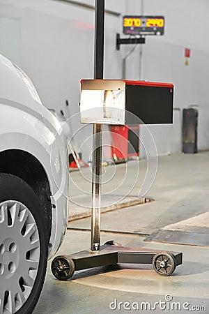 Automobile car headlight checkup