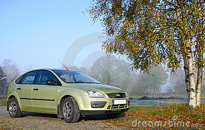 Automobile compatta verde