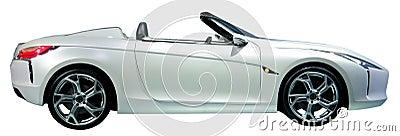 Automobile convertibile isolata