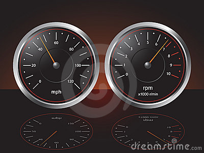 Automobile Dashboard Gauges
