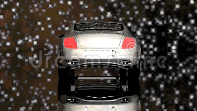 Automobile di lusso sotto le stelle stock footage