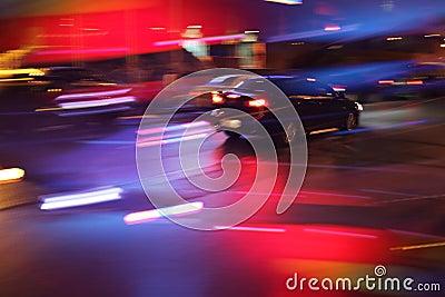 Automobile a nigt