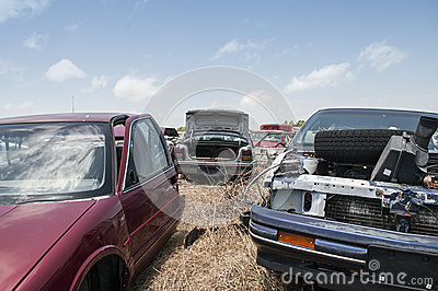 Automobile salvage yard