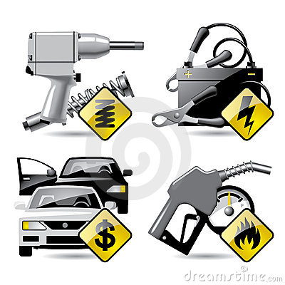 Free Automobile Service Icons 2 Royalty Free Stock Photography - 6318187