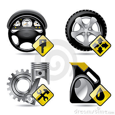 Free Automobile Service Icons Royalty Free Stock Photo - 6156055
